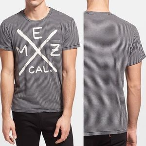 Sol Angeles Mezcal Graphic Stripe Pocket T-Shirt L